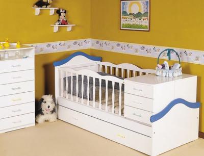 Wenceslao Muebles → Cama Cuna funcional c/carro y Chiffonier Baby Store